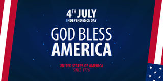 American Independence Day. God Bless America. 4th July. Template background for greeting cards, posters, leaflets and brochure. Ve Royalty Free Stock Images