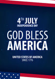 American Independence Day. God Bless America. 4th July. Template background for greeting cards, posters, leaflets and brochure. Ve. Ctor illustration Royalty Free Stock Images
