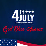 American Independence Day. God Bless America. 4th July. Template background for greeting cards, posters, leaflets and brochure. Ve Royalty Free Stock Photography