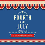 American Independence Day greeting card. Stock Photos