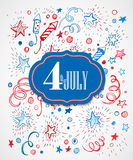 American Independence Day. Hand-drawn pattern Stock Photography