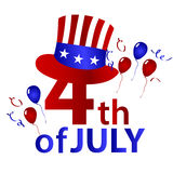 American independence day with hat celebration eps10 Stock Photography