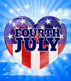 American Independence Day Heart Design. A Fourth of July American Independence Day heart sky design Stock Image
