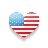 American independence day heart Stock Photography