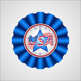 American Independence Day. Holiday badge. EPS 10 Stock Photos