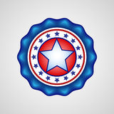 American Independence Day. Holiday badge. EPS 10 Stock Photo