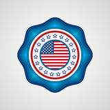 American Independence Day. Holiday badge. EPS 10 Royalty Free Stock Image
