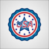 American Independence Day. Holiday badge. EPS 10 Royalty Free Stock Photo