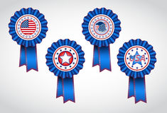American Independence Day. Holiday badges. EPS 10 Royalty Free Stock Photo