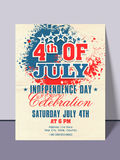 American Independence Day invitation card. Stock Image