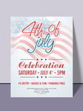 American Independence Day invitation card. Royalty Free Stock Photography