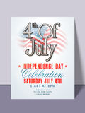 American Independence Day invitation card. Royalty Free Stock Images