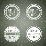 American Independence Day labels Royalty Free Stock Photo