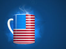 American Independence Day with national flag color cup. Stock Photo