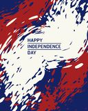 Independence day. American independence day painting brush style background Stock Images