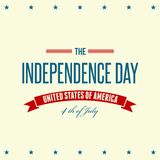 American Independence Day Patriotic background Stock Illustration