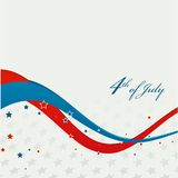 American Independence Day  Patriotic background Stock Photography