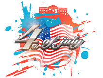 American Independence Day poster or banner. Stock Images