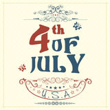American Independence Day poster or banner. Royalty Free Stock Image