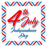 American Independence day poster template, 4th July background. Ribbon flags and stars. American patriotic background, Independence day 4 th july. Vector vector illustration