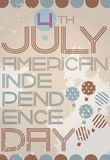 American independence day retro poster Royalty Free Stock Photos