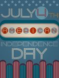 American independence day retro poster Stock Photography