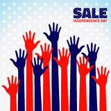 American Independence Day Sale. Vector illustration  for your design Stock Images