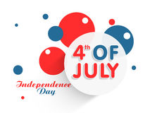 American Independence Day sticker or tag. Royalty Free Stock Photos