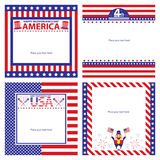 American Independence day template card sets. This is american independence day template cards design.  file Royalty Free Stock Photo