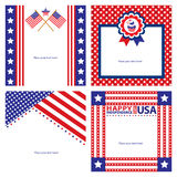 American Independence day template card sets. Stock Photography