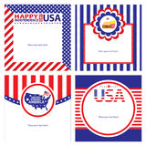 American Independence day template card sets. This is american independence day template cards design.  file Stock Image