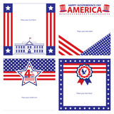 American Independence day template card sets. Stock Images