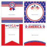 American Independence day template card sets. This is american independence day template cards design. file Vector Illustration