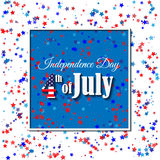 American Independence Day 4 th july. Greeting card design. National flag. Vector illustration.Patriotic symbol holiday poster. Hap Royalty Free Stock Images