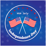 American Independence Day 4 th july. Greeting card design. National flag. Vector illustration.Patriotic symbol holiday poster. Hap Stock Photo