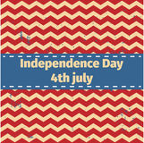American Independence Day 4 th july. Greeting card design. Ribbon Banner.Vector illustration. Patriotic symbol holiday poster. Hap Royalty Free Stock Images