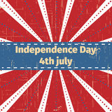 American Independence Day 4 th july.Greeting card design. Ribbon Banner. Vector illustration. Patriotic symbol holiday poster. Hap Royalty Free Stock Photography
