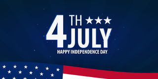 American Independence Day. 4th July. Template background for greeting cards, posters, leaflets and brochure. Vector illustration. Stock Photo