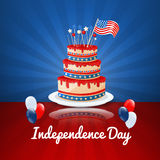 American Independence Day. 4th of July USA Holiday Background Stock Image