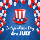 American Independence Day. 4th of July USA Holiday Background Royalty Free Stock Photo