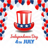 American Independence Day. 4th of July USA Holiday Background Stock Photo