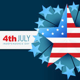 American independence day vector flag Royalty Free Stock Photos