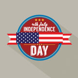 American Independence Day. Vector Illustration Stock Photography