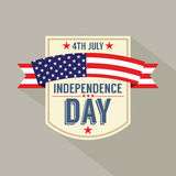 American Independence Day. Vector Illustration Stock Photo