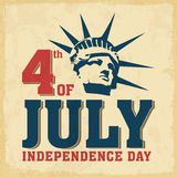 American Independence Day vintage flyer. Royalty Free Stock Image