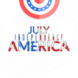 American independence 4th of july. USA independence day greeting card. America national holiday banner. 4th of july poster illustration royalty free illustration