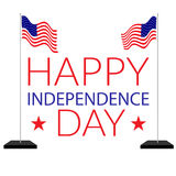 American independence 4th of july. USA independence. Happy 4th of july greeting card design stock illustration