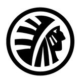 American Indian. Round logo with American Indian concept Royalty Free Stock Photos