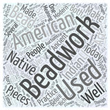 American indian art auctions beadwork word cloud concept  background Royalty Free Stock Image