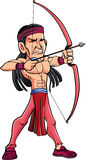 American Indian with a bow and Arrow Royalty Free Stock Photo